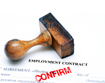 Job contract for employment in Europe for non-EU nationals